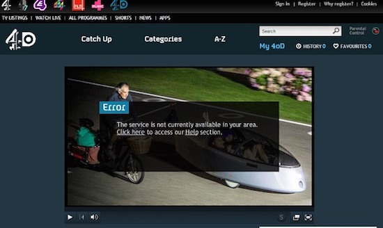 Channel 4 Live is blocked with the UK VPN - Windows