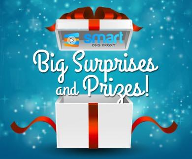 Big prizes giveaway