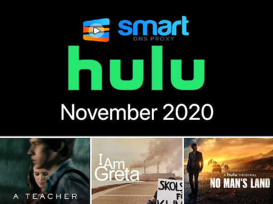 Hulu offer for November 2020 - stream it with Smart DNS Proxy!
